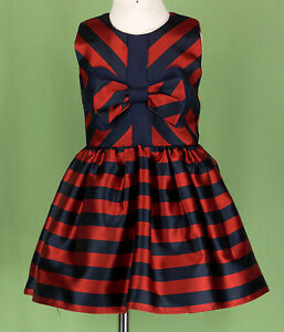 df48a02b4 234 Halabaloo girl navy red satin ruffle dress sleeveless wedding ...