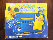 NINTENDO N64 - POKEMON PIKACHU BLUE & YELLOW CONSOLE EDITION (BOXED)