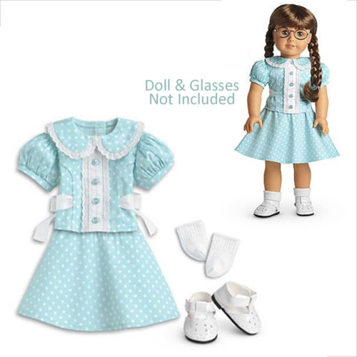 American Girl MOLLY POLKA DOT OUTFIT for 18 Dolls Clothes Retired Molly's NEW