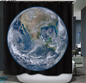 Image Is Loading Planet Earth World Waterproof Bathroom Shower Curtains 12