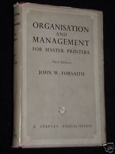 Organisation amp Management for Master Printers19491st Industrial Printing Int - Norwich, United Kingdom - Organisation amp Management for Master Printers19491st Industrial Printing Int - Norwich, United Kingdom