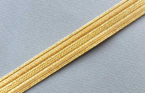 "Pilot Galon Uniform Army Navy Vestment Trim ½/"" Wide 5 Yards Gold Military Braid"