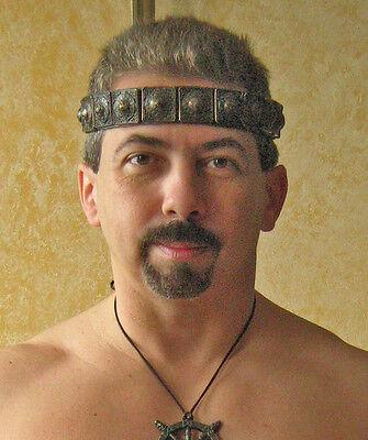 Medieval Barbarian Gladiator Celtic Leather Headband 3