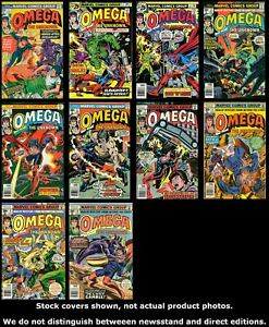 Omega-The-Unknown-Vintage-1-2-3-4-5-6-7-8-9-10-Completo-Juego-Run-Lote-1-10-MB