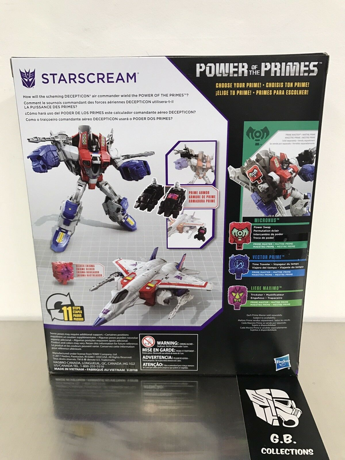Transformers Power Of The Primes Starscream Voyager Class New New New Sealed b4da82