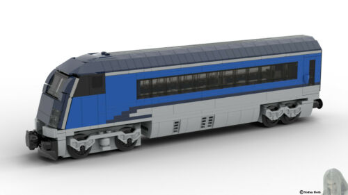 u.a Lego PDF-Bauanleitung ÖBB Railjet Endwagon aus Noppensteinen