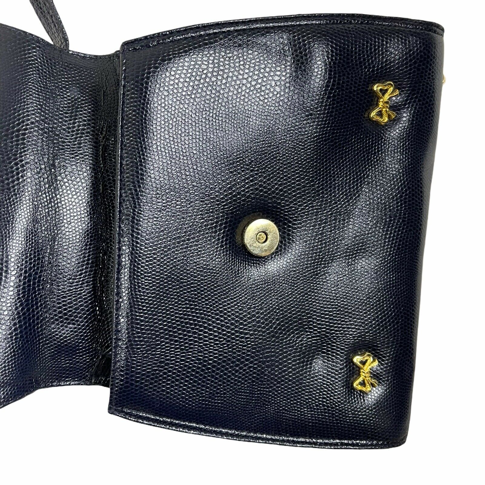 ARNOLD SCAASI NAVY LIZARD LEATHER WITH BOWS WOMEN… - image 4