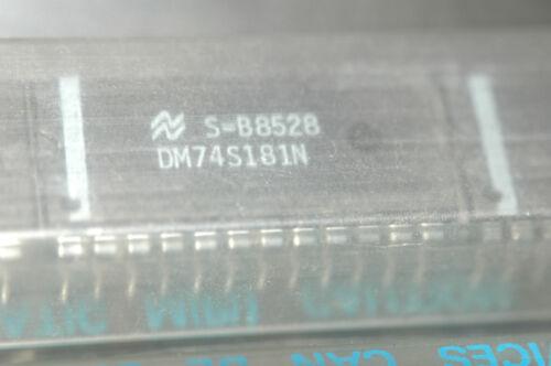 NATIONAL DM74S181N Fixed Point ALU 24-Pin Plastic Dip New Lot Quantity-3