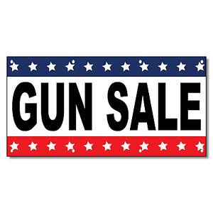 Gun Sale Black Red Blue 13 Oz Vinyl Banner Sign With
