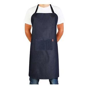 Professional Chefs Denim Apron Butcher Kitchen Cooks Restaurant Bistro BBQ Apron
