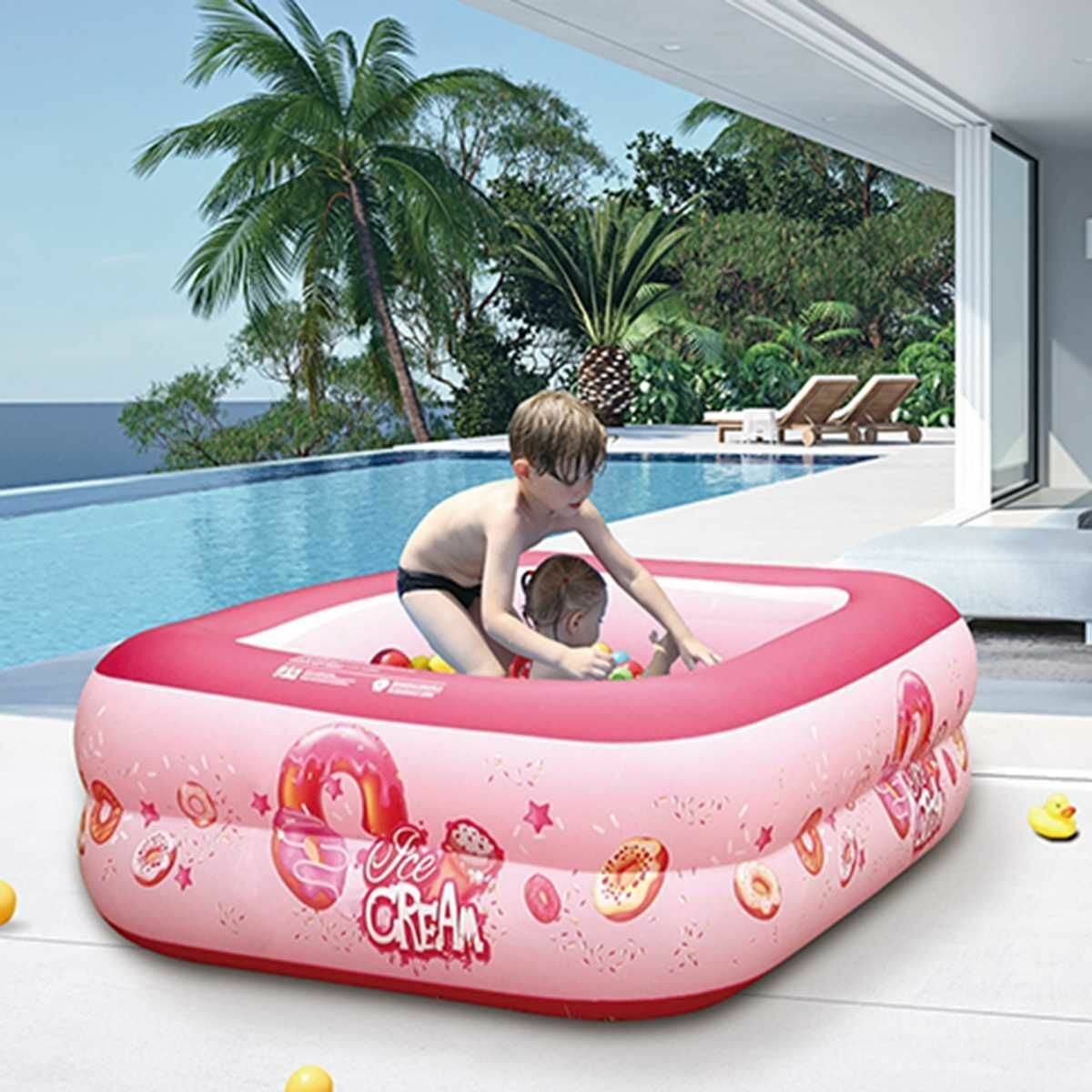 Children Inflatable Swimming Pool Baby Water Play Portable Outdoor Basin Bathtub