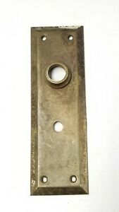 B75-Antique-Metal-Back-plate-Door-knob-Hardware-7-034-x-2-1-4-034-Thumb-lock-hole
