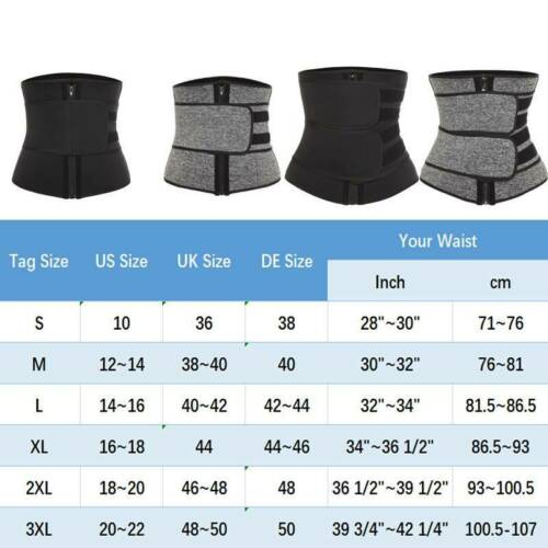 Women/&Men Waist Training Sport Gym Tummy Trimmer Belt Sweat Fat Burn Shaper Yoga
