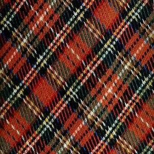 Homme Bleu Or Jaune Marron Écossais Tartan Carreaux Soie Plaid Tie
