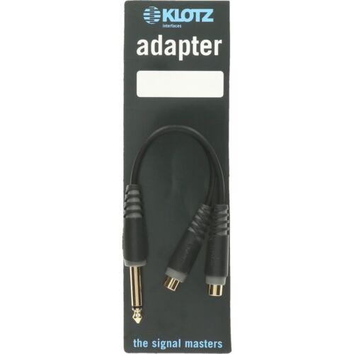 Klotz AYU-4 kurzer mono y-adapter 1 x klinke 6,35 mm 2 x RCA female