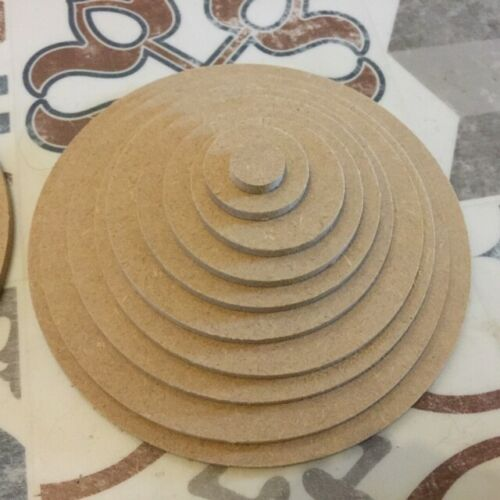 6mm MDF Wooden MDF Ring and Solid circle stacking set 20cm