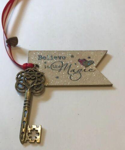 Santa's Magic Key Believe In The Magic Christmas Eve Box Ornate Gold Key Wood