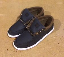 DVS Hunt Navy Canvas Size 10 Chukka BMX DC Skate Deck Boat Shoes Sneakers