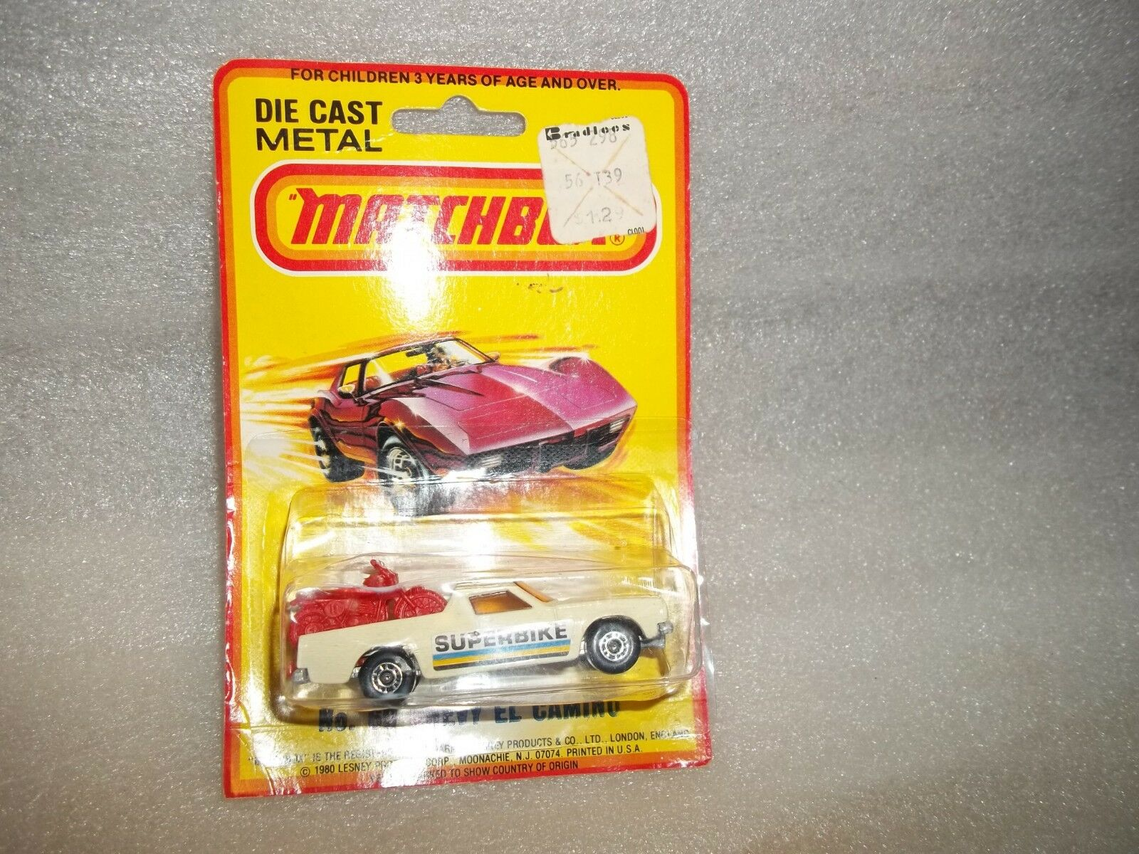 Matchbox  Chevy El Camino Super Bike   1980 on Card