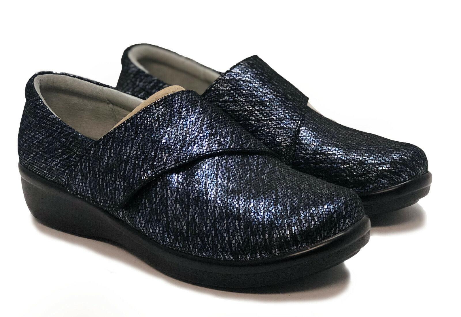 Alegria Imprimé nubuck Slip-on chaussures Avec Croix Bracelet Lauryn femmes 6-6.5