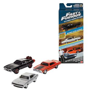 Fast and Furious 3 Car Set Dodge Off Road Ultra Charger Roadrunner Mattel FCG01