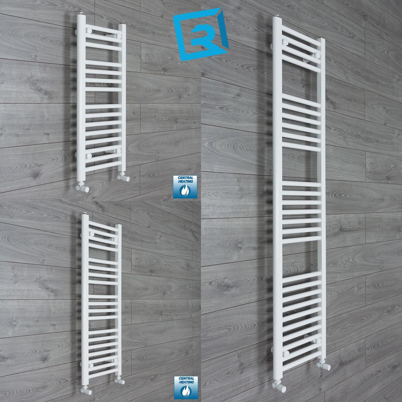 350 mm Wide Weiß Ladder Heated Towel Rail Radiator Designer Bathroom Narrow