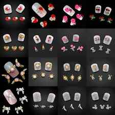 Multi Styles 3D Nail Art Decoration Pearl Alloy Rhinestones Nail Studs 10Pcs