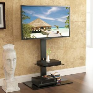 Floor-TV-Stand-with-Universal-Swivel-Bracket-Mount-for-Flat-Curved-Screen-TV