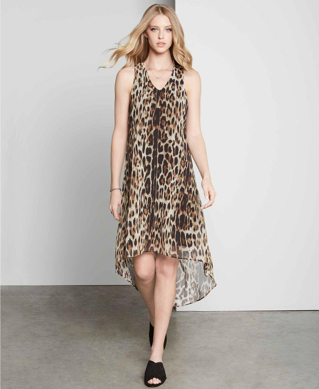 Karen Kane (MY9-6) Printed High-Low Dress schwarz Multi Sz S
