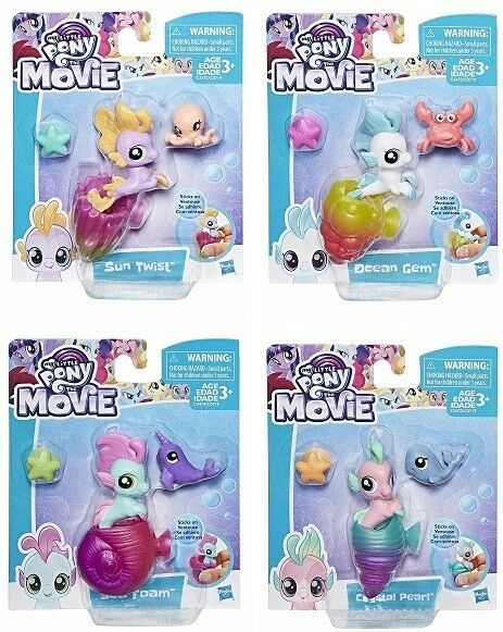 MY LITTLE PONY THE MOVIE BABY SEA PONY FIGURE Shell Star Seapony Toy Box Hasbro