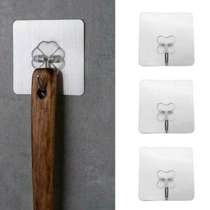 10Pcs-Removable-Self-Adhesive-Hooks-Wall-Door-Plastic-Hook-Strong-Sticky-Ho-D2P3