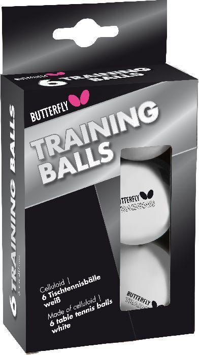 144 Stück Tischtennisbälle Butterfly Trainingsball weiss 40 mm