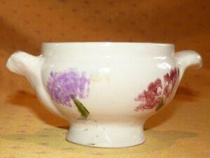Ancien-bol-a-soupe-en-faience-a-decor-floral-d-039-origine-inconnue-Old-soup-bowl