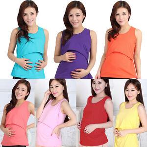 9f4949348f265 Image is loading Soft-Maternity-Clothes-Nursing-Tops-Breastfeeding-Top- Nursing-