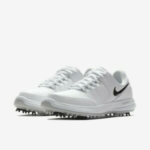 Damen-Nike-Air-Zoom-genaue-Golfschuhe-UK-4-5-amp-5-weiss-schwarz-909734-100