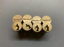 Lot Of 4 Medeco Assa Keymark 7 Pin Uncombinated Sfic Cores Satin Brass Finish
