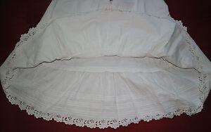 Jupon-ancien-avec-dentelle-brode-antique-lace-Petticoat-underskirt