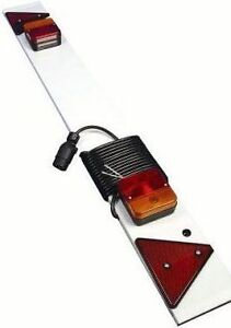4ft-Trailer-Board-light-rear-lamps-7-5m-7-5-meter-cable