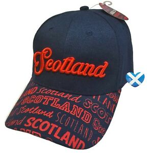 9eab7a84422 Scotland Baseball Cap NAVY BLUE   RED Scottish Souvenir Mens Hat ...