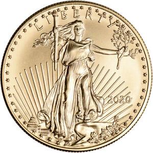 2020 American Gold Eagle 1 oz $50 - BU