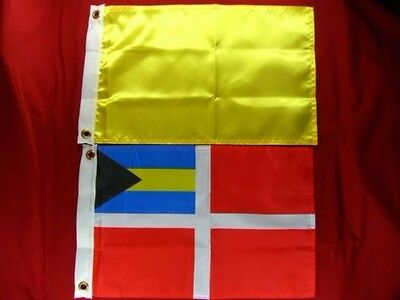 "BOAT MARINE JAMAICA COURTESY FLAG 12/"" x 18/"" Print Dyed Nylon with Grommets"