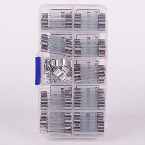 72tlg Sortiment Feinsicherungen Gerätesicherungen Glassicherungen 0.5-30A 6x30mm