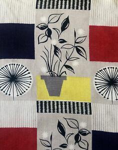 1954-TOM-MELLOR-039-S-034-FLOWER-POT-034-FOR-DAVID-WHITEHEAD-VINTAGE-FABRIC-MID-CENTURY
