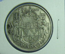 Canada 1946 50 cents silver about VF Hoof  in 6