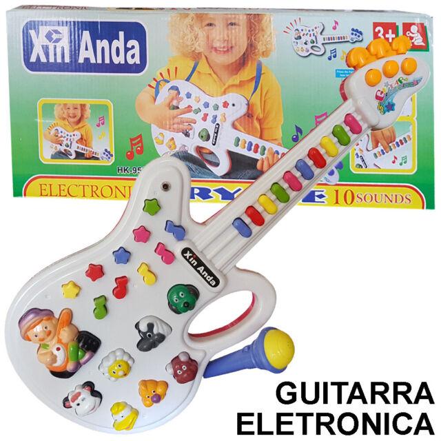 JUGUETE Guitarra  Melodias Sonidos y Notas Musicales + Microfono Juego Infantil