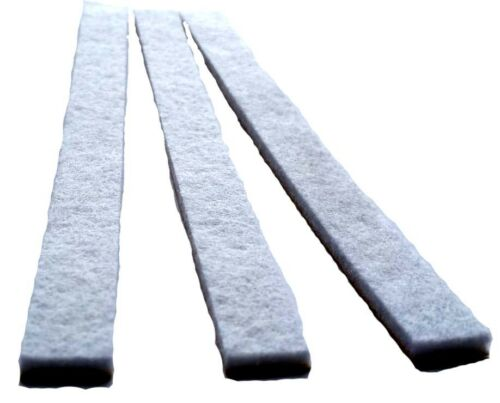 Hat Size Reducer Pads-3-Versatile-White-Felt-Easy  Fit Economy Adhesive Strips