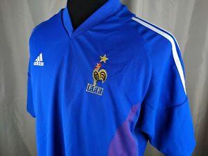 60494bb10 Adidas FRANCE 2002 World Cup Home Jersey Soccer Shirt FFF Size XL ...