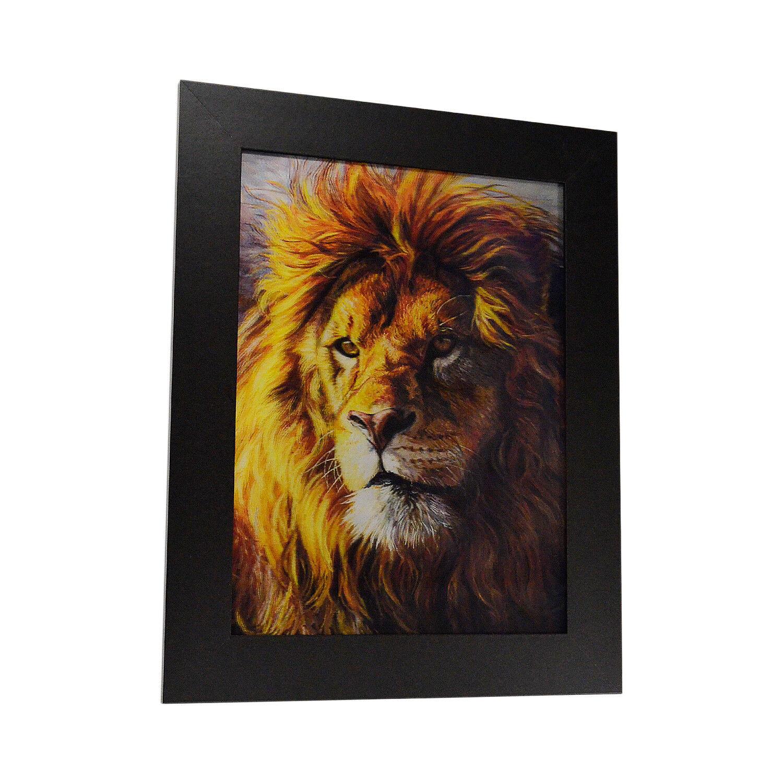 3D Lenticular Poster -12x16 Print White Lions