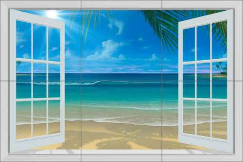 Tile Mural Backsplash Ceramic Miller Tropical Beach Seascape Art DMA2026