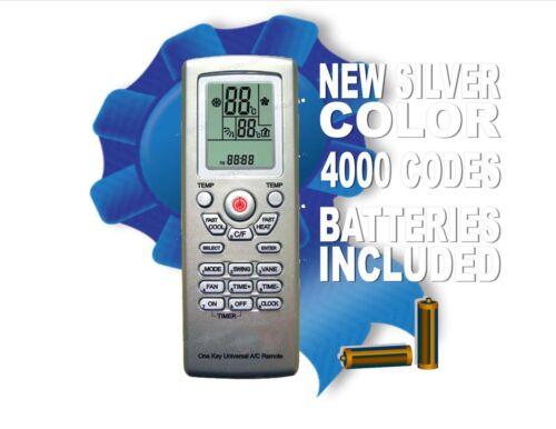 Nouveau Argent Couleur! Universal A//C Télécommande avec 4000 Brand codes en mémoire